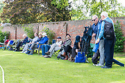 Members set up their chairs in a prime spot ahead of the Specsavers County Champ Div 1 match between Yorkshire County Cricket Club and Warwickshire County Cricket Club at York Cricket Club, York, United Kingdom on 18 June 2019.