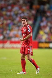Hong Kong, China - Friday, July 27, 2007: Liverpool's Harry Kewell suffers in the heat and humidity against Portsmouth during the final of the Barclays Asia Trophy at the Hong Kong Stadium. (Photo by David Rawcliffe/Propaganda)