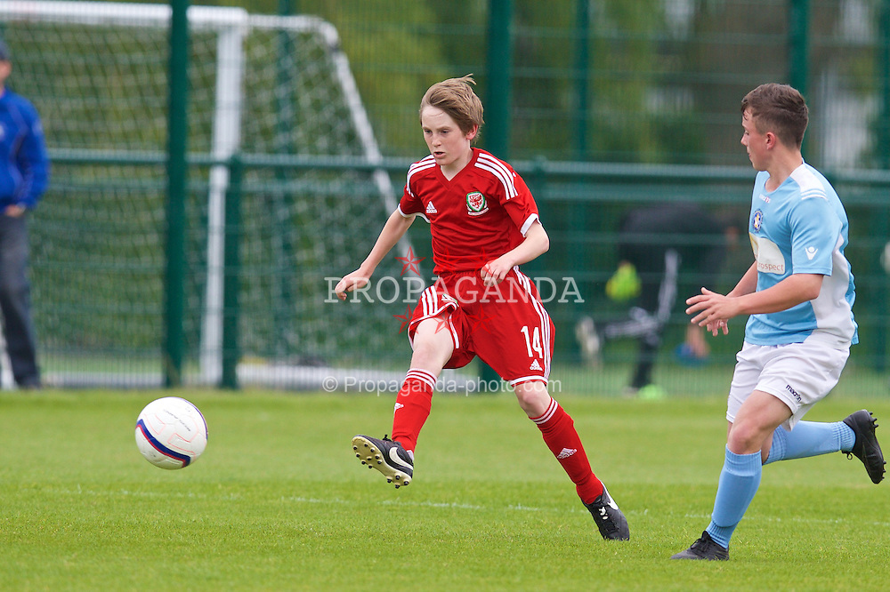 NEWPORT, WALES - Wednesday, May 27, 2015: Regional Development Boys' Callum Huxley during the Welsh Football Trust Cymru Cup 2015 at Dragon Park. (Pic by David Rawcliffe/Propaganda)