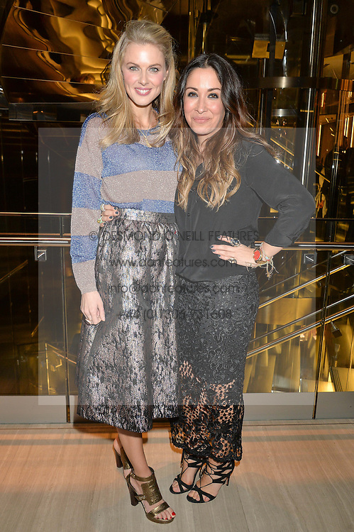 Left to right, DONNA AIR and SARAH CURRAN Managing Director Very Exclusive at the Veryexclusive.co.uk Launch Party held at Watches of Switzerland, 155 Regents Street, London on 20th February 2015.