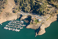 Lake Sonoma, Geyserville, California. Drought conditions, February 23rd, 2014.