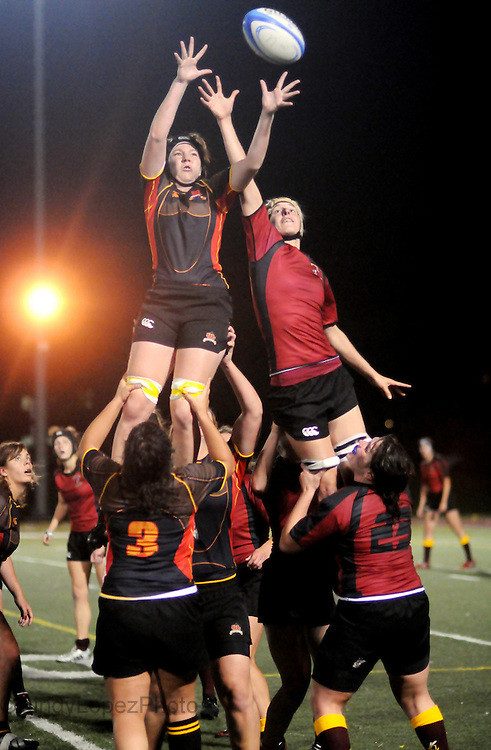 Concordia Women's rugby VS Laval at Concordia (Published in The Concordian. Fall 2010)
