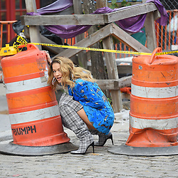 Rita Ora does a Video shoot in front of the Soho House in the MeatPacking District. 05 Oct 2017 Pictured: Rita Ora. Photo credit: Fleek / MEGA TheMegaAgency.com +1 888 505 6342