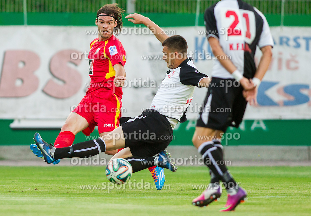 Denis Klinar #23 of Rudar during football match between NK Rudar Velenje and KF Laci (Albania) in 1st Round of UEFA Europa League Qualifications on July 3, 2014 in Arena Petrol, Celje, Slovenia. Photo By Vid Ponikvar / Sportida