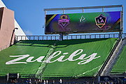 Zulily advertisement at CenturyLink Field during a MLS soccer match between the LA Galaxy and the Seattle Sounders on Saturday, September 1, 2019, in Seattle, Washington. (Alika Jenner/Image of Sport via AP)