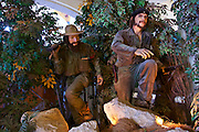 Havana, Cuba. Museo de la Revolucion (Museum of the Revolution). Wax figures of Camilo Cienfuegos and Che Guevara.