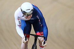 March 2, 2018 - Apeldoorn, Netherlands - British's Jack Carlin competes in Men's sprint eight fnals during UCI Track Cycling World Championships  2018 in Apeldoorn, The Netherlans, on 2 March 2018. (Credit Image: © Foto Olimpik/NurPhoto via ZUMA Press)