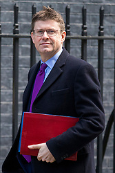 © Licensed to London News Pictures. 27/02/2018. London, UK. Secretary of State for Business, Energy and Industrial Strategy Greg Clark on Downing Street. Photo credit: Rob Pinney/LNP