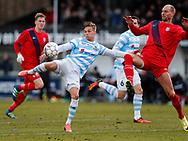 FODBOLD: André Riel (FC Helsingør) scorer til 3-0 under kampen i NordicBet Ligaen mellem FC Helsingør og Nykøbing FC den 12. marts 2017 på Helsingør Stadion. Foto: Claus Birch
