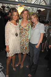Left to right, TANIA FOSTER-BROWN,  JULIA OGILVY and KATE REARDON at a party to celebrate the publication of Nain Attallah's book'Fulfilment & Betrayal' held at The Bluebird, King's Road, London on 1st May 2007.<br />