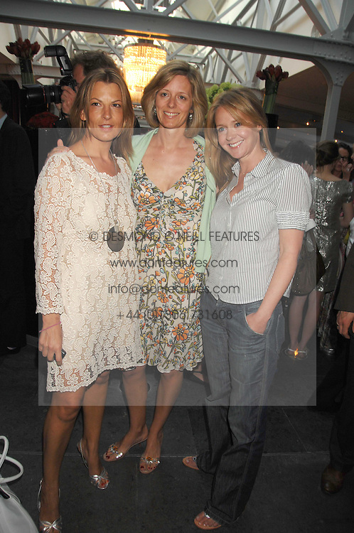 Left to right, TANIA FOSTER-BROWN,  JULIA OGILVY and KATE REARDON at a party to celebrate the publication of Nain Attallah's book'Fulfilment &amp; Betrayal' held at The Bluebird, King's Road, London on 1st May 2007.<br />