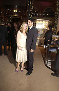 """Miranda Raison and  Raza Jaffrey.  The after show party following the UK Premiere of """"Match Point,"""" at Asprey, New Bond st. London.   December 18 2005 ,  ONE TIME USE ONLY - DO NOT ARCHIVE  © Copyright Photograph by Dafydd Jones 66 Stockwell Park Rd. London SW9 0DA Tel 020 7733 0108 www.dafjones.com"""