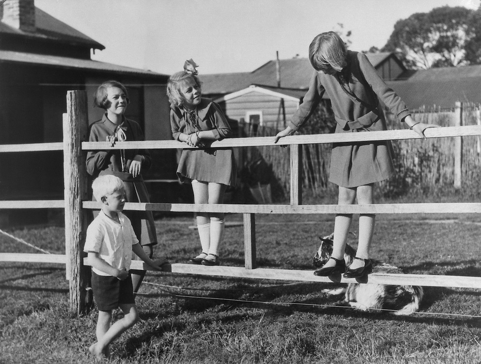 "Children, ""Working Man's Home"" Series, Australia, 1930"