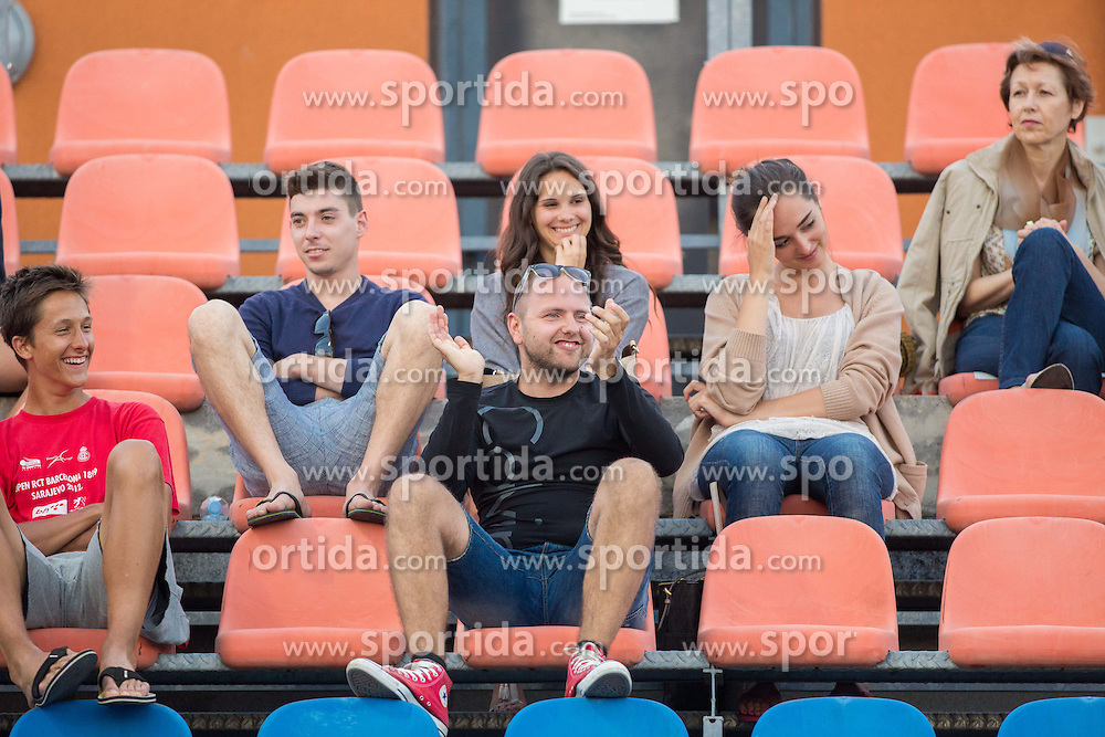 Spectators during Day 2 of ATP Challenger Tilia Slovenia Open 2014 on July 8, 2014 in  Tennis stadium SRC Marina, Portoroz / Portorose, Slovenia. Photo by Vid Ponikvar / Sportida