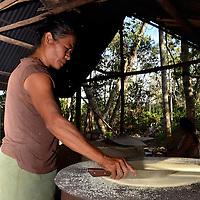 Elaboracion del Casabe. Kamarata. Edo. Bolivar. Cooking Cassava. Kamarata Edo. Bolivar. Febrero 23, 2013. Jimmy Villalta.