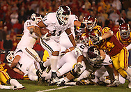 25 OCTOBER 2008: Texas A&M FB Jorvorskie Lane (11) scores a touchdown in the second half of an NCAA college football game between Iowa State and Texas A&M, at Jack Trice Stadium in Ames, Iowa on Saturday Oct. 25, 2008. Texas A&M beat Iowa State 49-35.