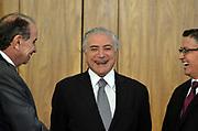 25.04.2018 - BRASÍLIA, DF -  - O presidente da República, Michel Temer, recebe o embaixador do Equador, senhor Diego Espinosa, na quarta-feira (25), em cerimônia de apresentação de cartas credenciais no Palácio do Planalto, em Brasilia ( Foto: RENATO COSTA / FRAMEPHOTO )
