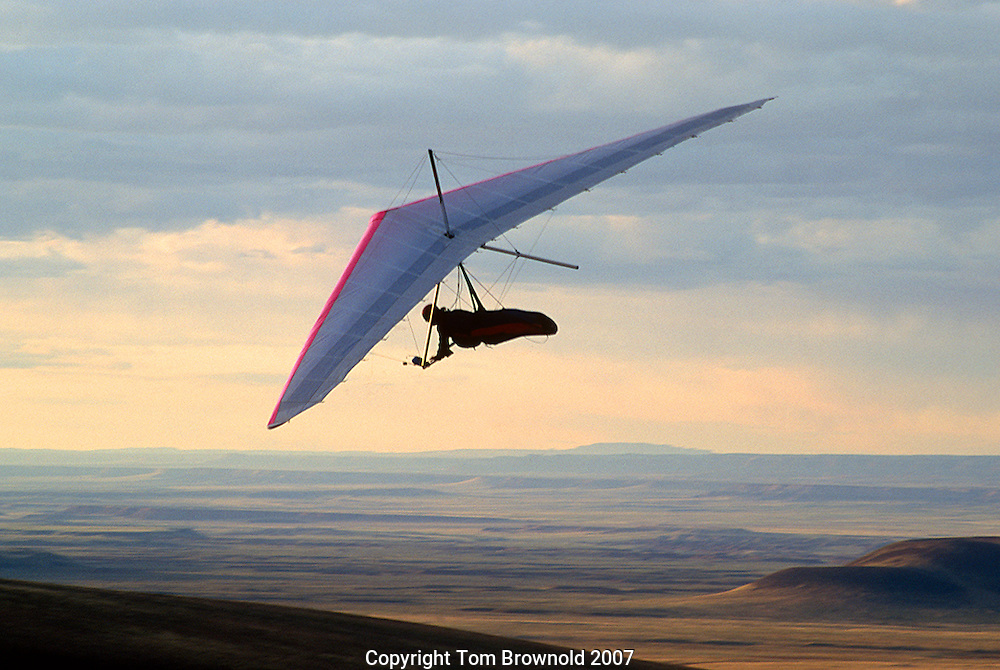 Hang gliding over Arizona