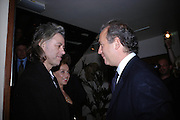Sir Bob Geldof, Jeanne -Marine and Charles Finch. Dinner at San Lorenzo, Beauchamp Place after Tod's hosts Book signing with Dante Ferretti celebrating the launch of 'Ferretti,- The art of production design' by Dante Ferretti. 19 April 2005.  ONE TIME USE ONLY - DO NOT ARCHIVE  © Copyright Photograph by Dafydd Jones 66 Stockwell Park Rd. London SW9 0DA Tel 020 7733 0108 www.dafjones.com