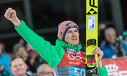 06.01.2016, Paul Ausserleitner Schanze, Bischofshofen, AUT, FIS Weltcup Ski Sprung, Vierschanzentournee, Bischofshofen, Siegerehrung Tageswertung, im Bild Severin Freund (GER) // Severin Freund of Germany celebrate on the podium of the Four Hills Tournament of FIS Ski Jumping World Cup at the Paul Ausserleitner Schanze in Bischofshofen, Austria on 2016/01/06. EXPA Pictures © 2016, PhotoCredit: EXPA/ JFK