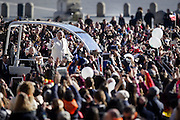 Vatican City 11th feb 2015, weekly general audience in St Peter's Square. In the picture Pope Francis