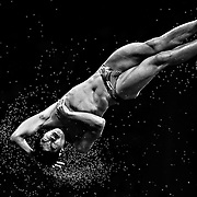 China's Huo Liang competes in the men's diving 10m platform semifinal at the Beijing 2008 Olympic Games, Beijing, China, 23 August, 2008.