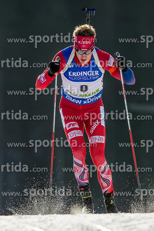 Tarjei Boe (NOR) during Men 10 km Sprint at day 1 of IBU Biathlon World Cup 2015/16 Pokljuka, on December 17, 2015 in Rudno polje, Pokljuka, Slovenia. Photo by Urban Urbanc / Sportida