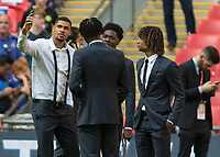 Football - 2017 FA Cup Final - Arsenal vs. Chelsea<br /> <br /> Chelsea Players Loftus Cheek, Aina, Ake and Chalobah at Wembley.<br /> <br /> COLORSPORT/DANIEL BEARHAM
