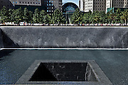 North Pool of the 9/11 memorial to the World Trade Center in New York City