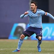 NEW YORK, NEW YORK - March 18:  David Villa #7 of New York City FC in action during the New York City FC Vs Montreal Impact regular season MLS game at Yankee Stadium on March 18, 2017 in New York City. (Photo by Tim Clayton/Corbis via Getty Images)