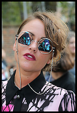 SEP 15 2014 Celebrities at London Fashion Week- Spring-Summer 15
