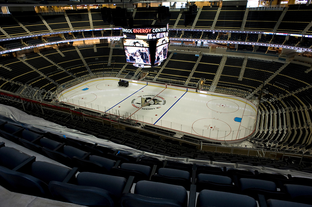 The new Consol Energy Center can seat over 18,000. The arena will be the new home for the Pittsburgh Penguins. It is scheduled to open August 18, 2010.