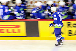 Jan Urbas of Slovenia celebrates during Ice Hockey match between National Teams of Kazakhstan and Slovenia in Round #4 of 2018 IIHF Ice Hockey World Championship Division I Group A, on April 27, 2018 in Arena Laszla Pappa, Budapest, Hungary. Photo by David Balogh / Sportida