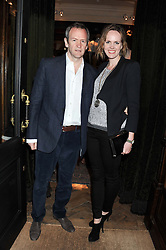 ALEXANDER ARMSTRONG and his wife HANNAH at a reception hosted by Ralph Lauren Double RL and Dexter Fletcher before a private screening of Wild Bill benefitting FilmAid held at RRL 16 Mount Street, London on 26th March 2012.