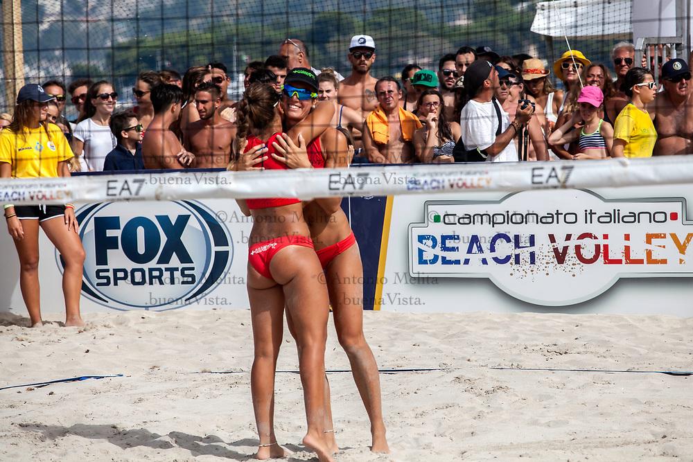 Campionato Italiano di Beach Volley: Eleonora Annibalini e Giulia Toti contro Francesca Giogoli e Giada Benazzi per il 1° posto della tappa di Mondello.