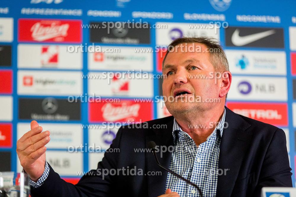 Matjaz Kek, new head coach of National team Slovenia during Press conference of new head coach of Team Slovenia, on November 27, 2018 in National Football Centre, Brdo pri Kranju, Slovenia. Photo by Ziga Zupan / Sportida