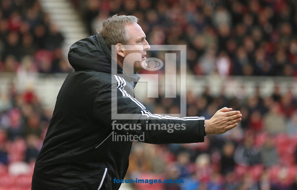 Picture by Paul Gaythorpe/Focus Images Ltd +447771 871632.12/01/2013.Middlesbrough assistant manager Mark Venus during the npower Championship match at the Riverside Stadium, Middlesbrough.