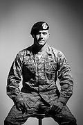 Jaron T. McIntyre<br /> E-5<br /> Security Forces<br /> OIF, OEF<br /> Sept. 23, 2008 - Sept. 23, 2014<br /> <br /> Veterans Portrait Project<br /> 802d Security Forces Squadron<br /> San Antonio, TX