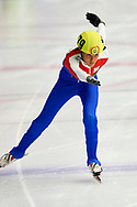 Graz, Austria - 2017 March 24: Shirnel Swarts from SO Republic of South Africa (179) competes in Speed Skating 333 meters race while Special Olympics World Winter Games Austria 2017 at Icestadium Graz Liebenau on March 24, 2017 in Graz, Austria.<br /> <br /> Mandatory credit:<br /> Photo by © Adam Nurkiewicz / Mediasport<br /> <br /> Adam Nurkiewicz declares that he has no rights to the image of people at the photographs of his authorship.<br /> <br /> Picture also available in RAW (NEF) or TIFF format on special request.<br /> <br /> Any editorial, commercial or promotional use requires written permission from the author of image.<br /> <br /> Image can be used in the press when the method of use and the signature does not hurt people on the picture.