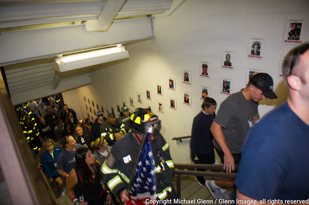 1 Oct 2017 Elmont, New York United States of America // 3RD annual national stair climb for fallen firefighters at the Belmont Park racetrack  Michael Glenn  /   for the FDNY