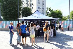 AREA COMMERCIALE PALALIDO<br /> ITALIA - POLONIA<br /> PALLAVOLO VNL VOLLEYBALL NATIONS LEAGUE 2019<br /> MILANO 23-06-2019<br /> FOTO GALBIATI -  RUBIN
