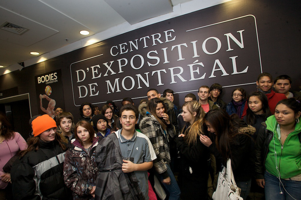 Saint Henri High School students visit the Bodies Exhibit under the guidance of Youth Fusion staff on December 16th, 2009.