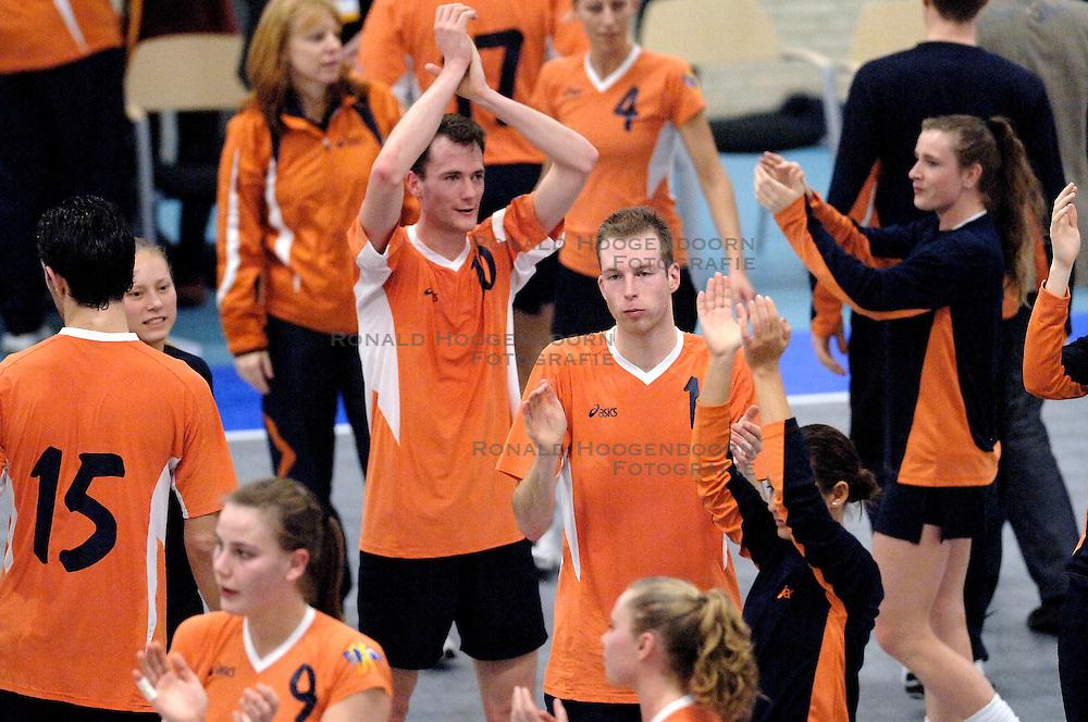 05-02-2006 KORFBAL: NEDERLAND - BELGIE: DRIEBERGEN<br /> Nederland wint met 21-12 van Belgie / Michiel Gerritsen<br /> &copy;2006-WWW.FOTOHOOGENDOORN.NL