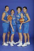 DESCRIZIONE : Venezia Additional Qualification Round Eurobasket Women 2009 Posati Nazionale Femminile<br /> GIOCATORE : Emanuela Ramon Chiara Pastore Simona Ballardini Mariachiara Franchini<br /> SQUADRA : Nazionale Italia Donne<br /> EVENTO : <br /> GARA : <br /> DATA : 04/01/2009<br /> CATEGORIA : Ritratto<br /> SPORT : Pallacanestro<br /> AUTORE : Agenzia Ciamillo-Castoria/M.Gregolin