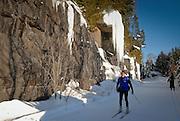 Ski de fond, parc linéaire, Val-David