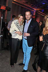 SVEN & ZOE LEY at a party to celebrate the launch of the new Vertu Constellation phone - the luxury phonemakers first touchscreen handset, held at the Farmiloe Building, St.John Street, Clarkenwell, London on 24th November 2011.
