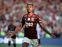 2019-11-03 Rio de Janeiro, Brazil soccer match between the teams of Flamengo and Corinthians , validated by the Brazilian Football Championship .in the photo Bruno Henrique  of Flamengo  club celebrates his goal Photo by André Durão / Swe Press Photo