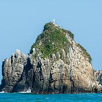 Peñon de la Bahía de Oritapo. Caruao. Estado Vargas. Venezuela. Rock of the Bay of Oritapo. Caruao. State Vargas. Venezuela