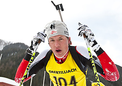 11.12.2010, Biathlonzentrum, Obertilliach, AUT, Biathlon Austriacup, Sprint Men, im Bild Christian Kitzbichler (AUT, #104). EXPA Pictures © 2010, PhotoCredit: EXPA/ J. Groder