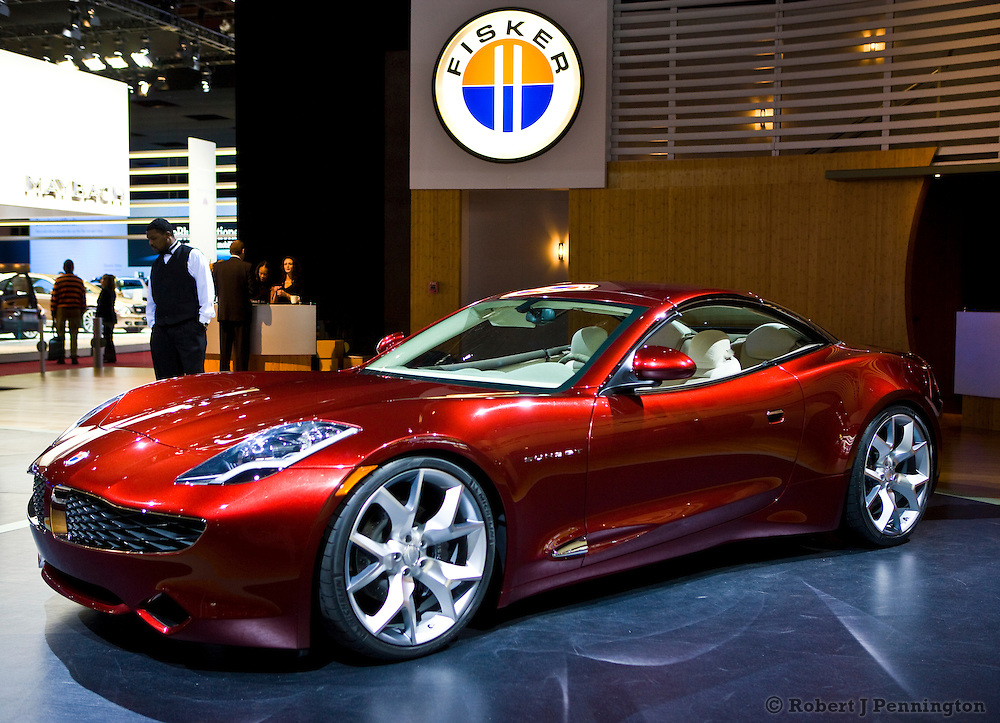 A Fiskar Karma S at the 2009 NAIAS, North American International Auto Show, held in Detroit Michigan.